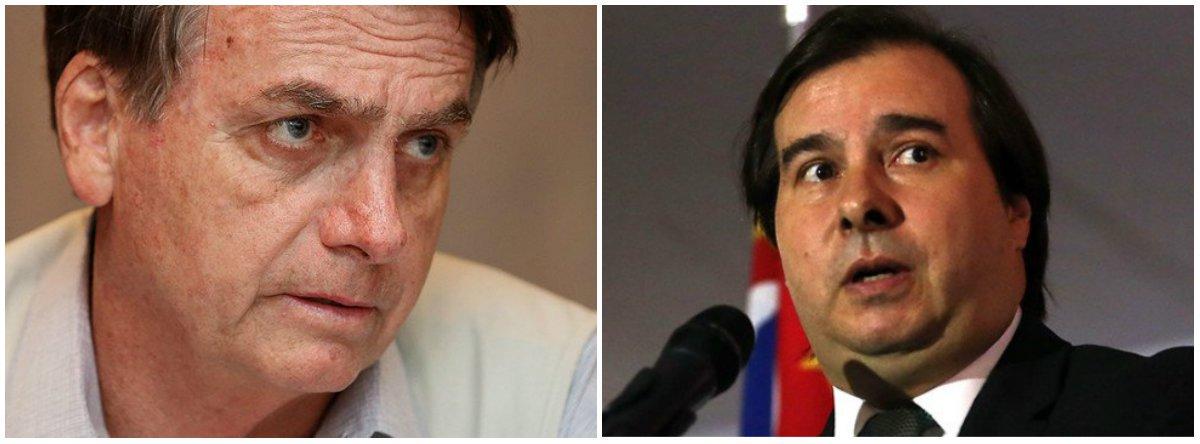 Bolsonaro quer derrubar Maia