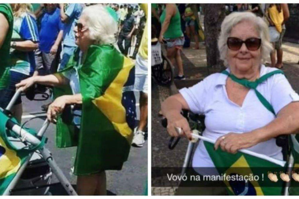 Viciado em fake news, Bolsonaro usa foto de senhora que morreu para ilustrar ato de domingo