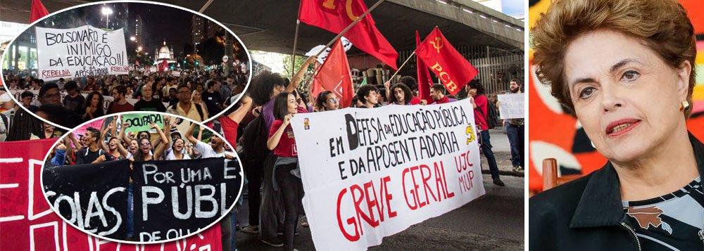 Dilma: polícia nas universidades é mais um motivo para ir às ruas