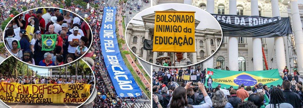 Multidões tomam principais cidades do País contra desmonte da educação