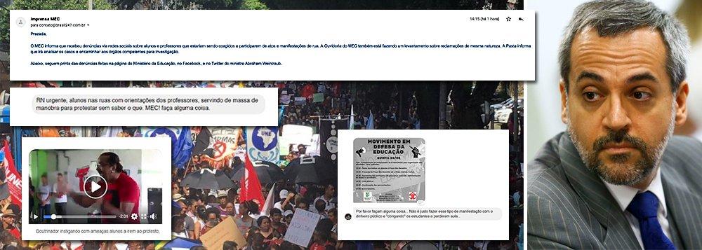 Weintraub cria factoide com 'denúncias' de bolsonaristas para acusar professores de coação