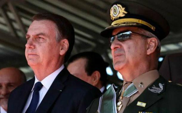 Bolsonaro e o general Luiz Eduardo Ramos Baptista Pereira