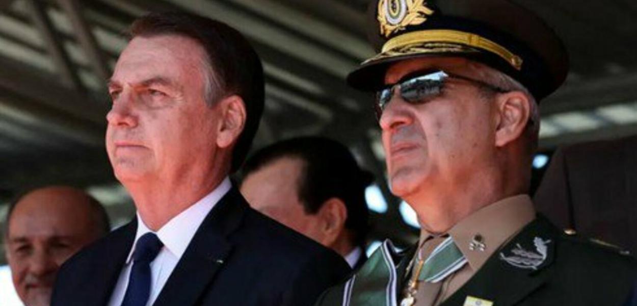 Bolsonaro e o general Luiz Eduardo Ramos Baptista Pereira, ministro da Secretaria de Governo