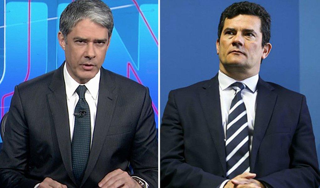 Em ato falho, Bonner demite Moro e o chama de ex-ministro