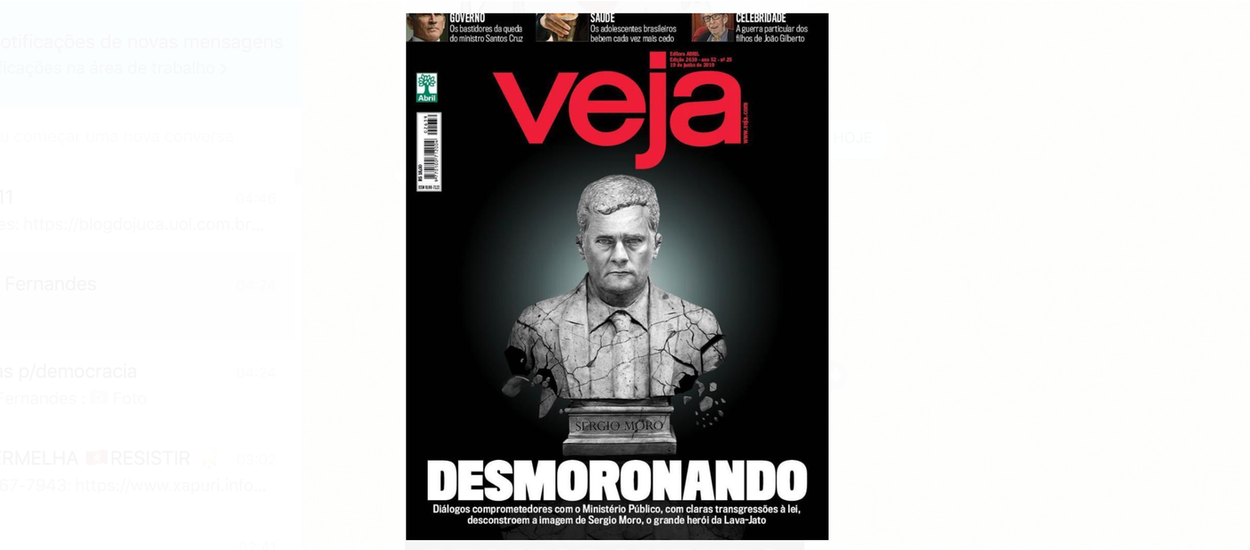 musical dentro de poco Visible  Até Veja abandona Moro e o vê 'desmoronando' - Brasil 247