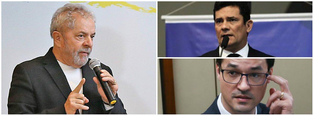 Lula propõe debate com Moro e Dallagnol