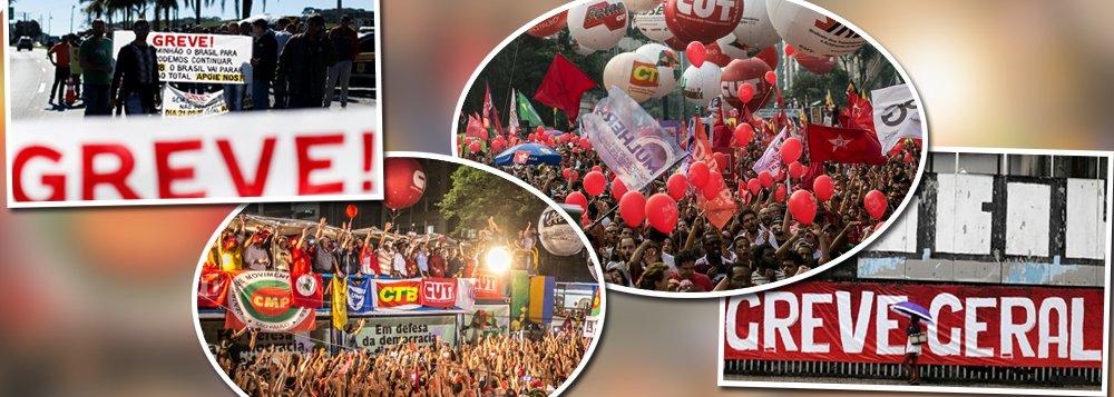 Professores e bancários de SP aderem à greve geral do dia 14
