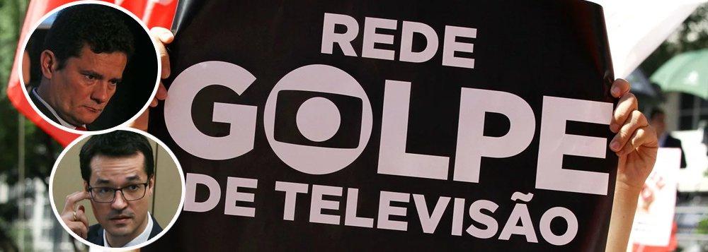 Globo joga tudo na defesa da Lava Jato, mas pode afundar abraçada a Moro