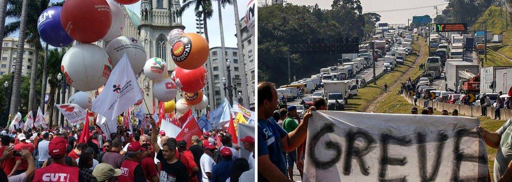 14J: grevistas devem bloquear rodovias e parar o País nesta sexta-fera