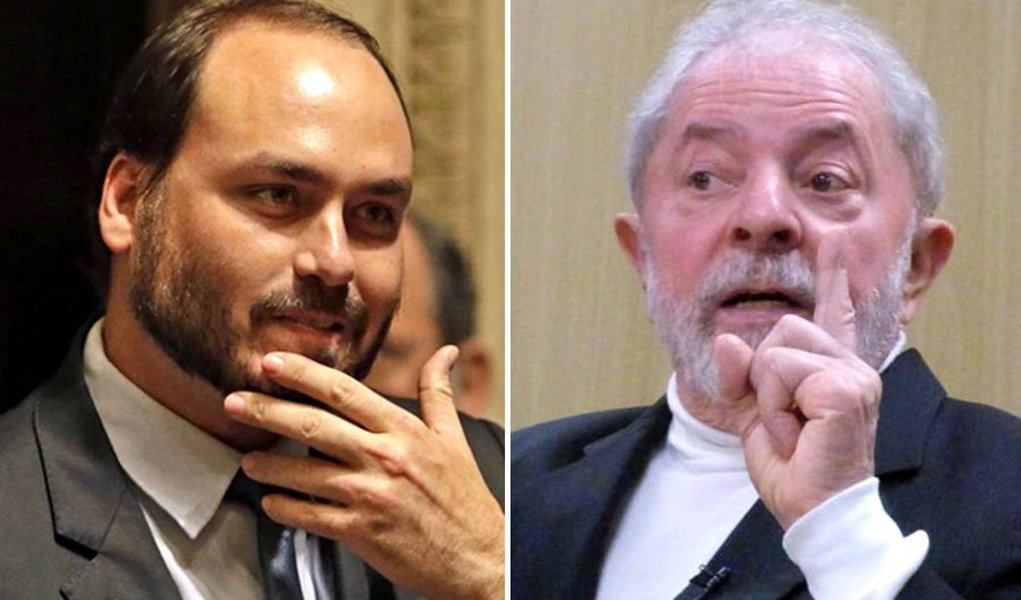 Em plena Vaza Jato, Carlos Bolsonaro insulta Lula