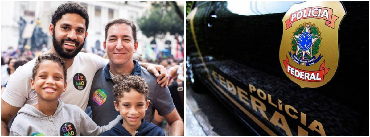 Mensagem ameaça filhos de Greenwald: 'iremos espalhar os pedaços'