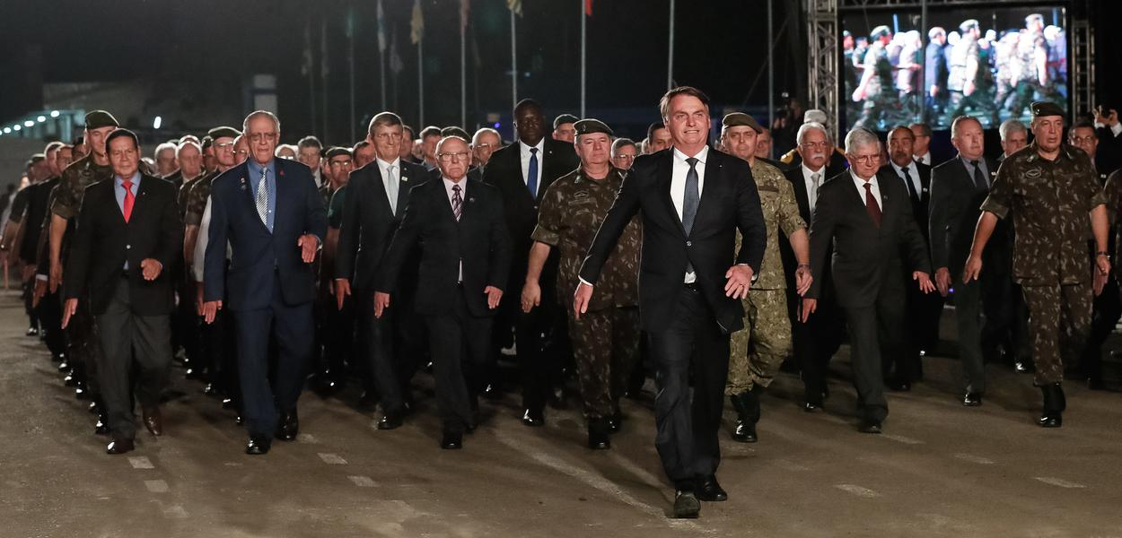 (Santa Maria - RS, 15/06/2019) Presidente da República, Jair Bolsonaro durante Desfile dos Artilheiros da Reserva, da Ativa e de Alunos da Escola Militar.\rFoto: Alan Santos/PR