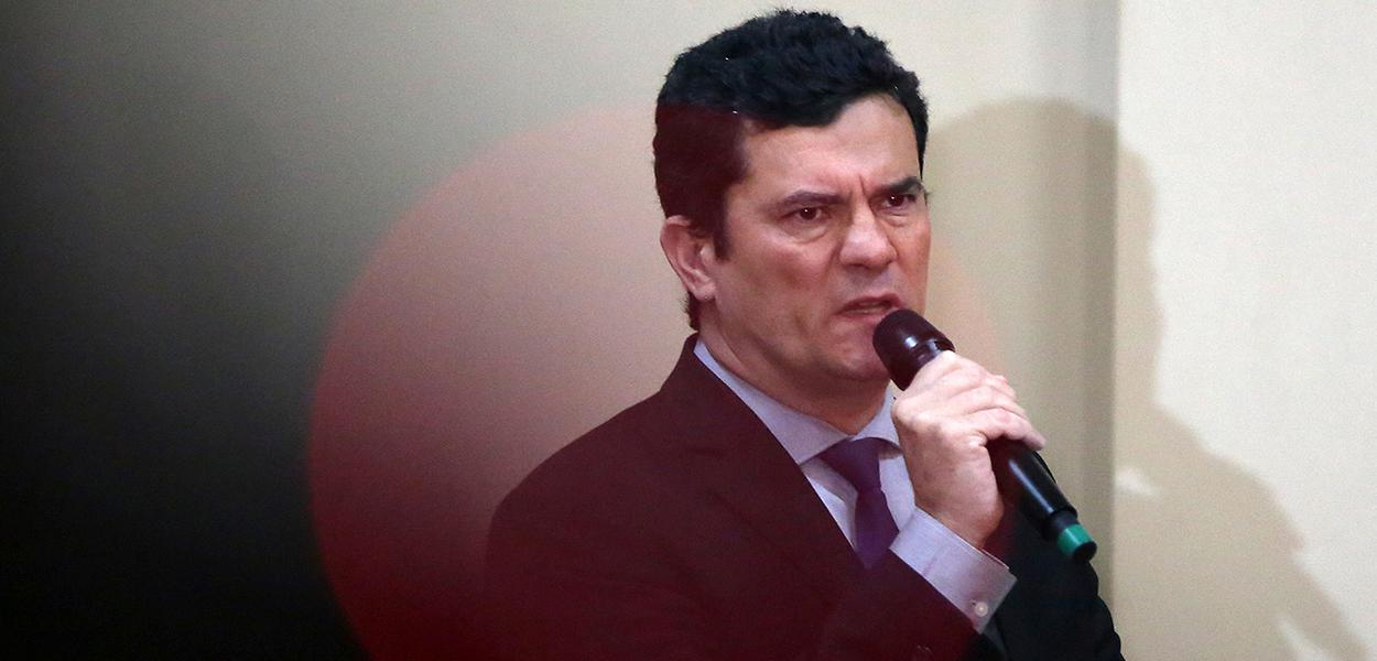 Ministro da Justiça, Sergio Moro, discursa durante cerimônia em Manaus