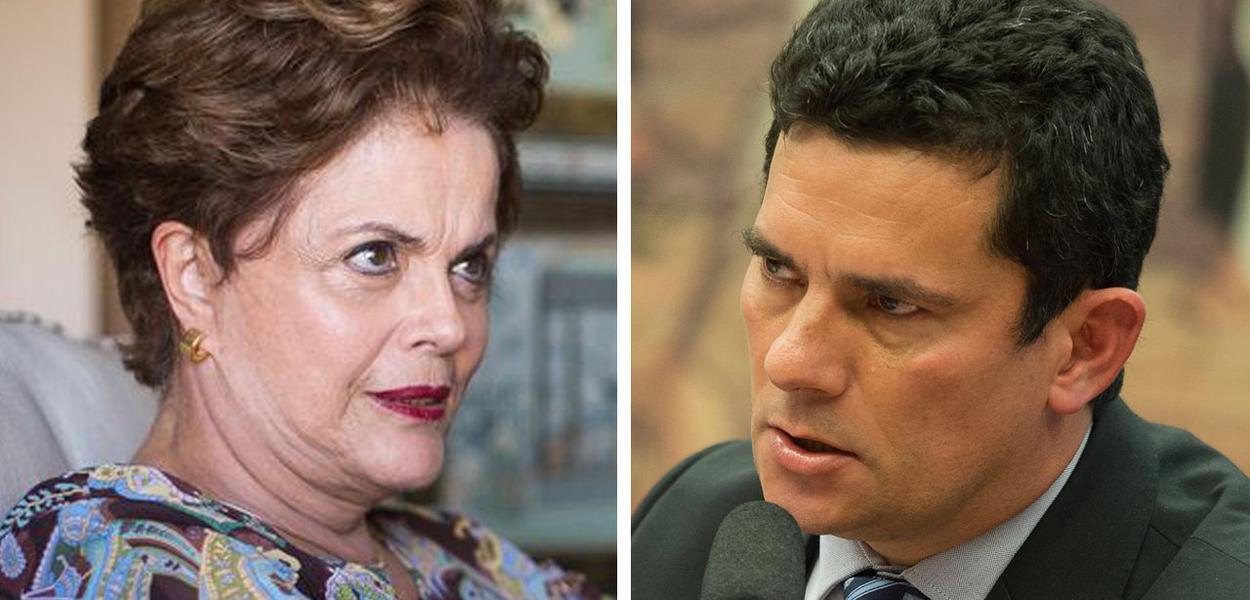 Ex-presidente Dilma Rousseff e ministro Sérgio Moro
