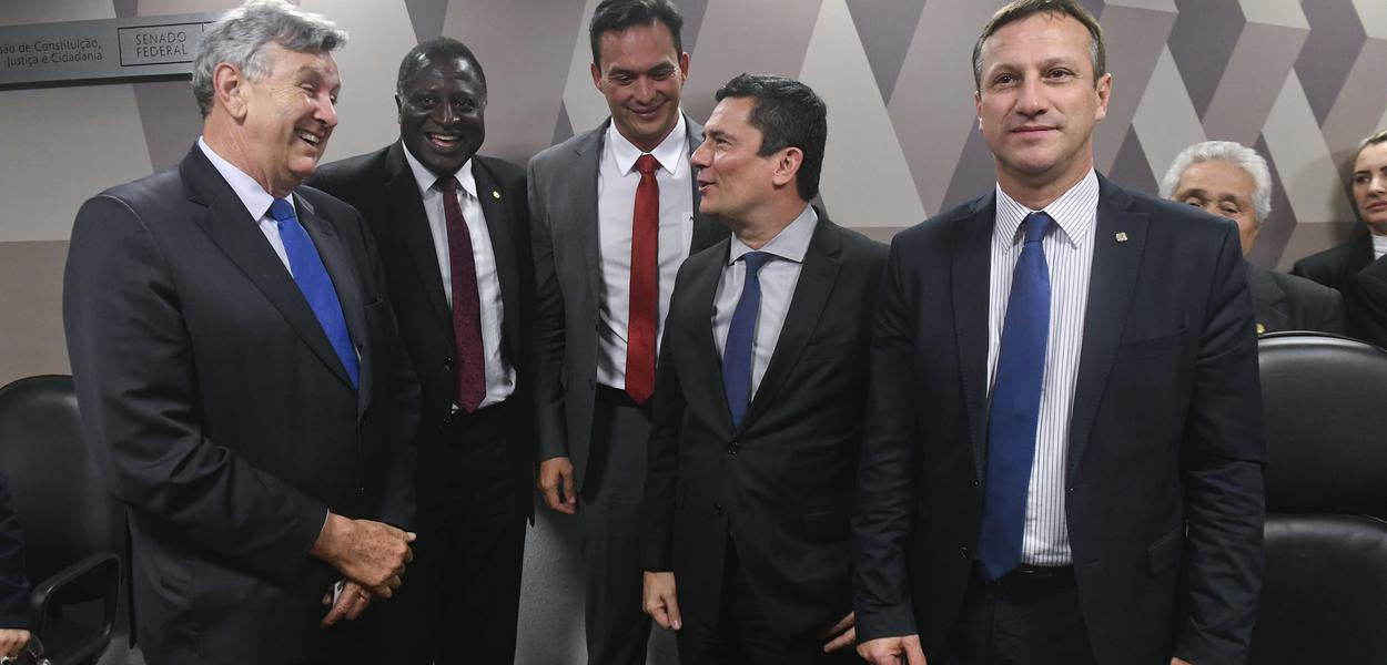 Sérgio Moro presta depoimento na Comissão de Constituição e Justiça do Senado sobre vazamentos do The Intercept