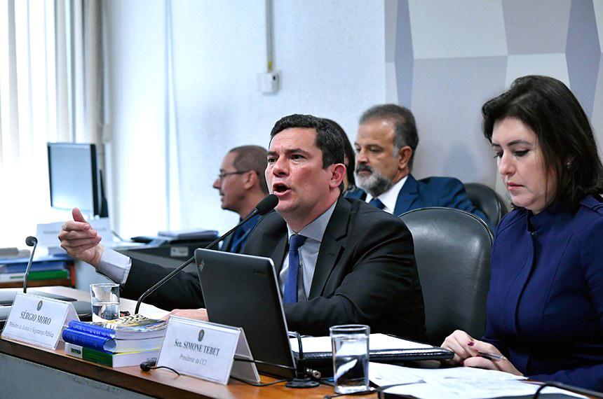 Sérgio Moro depõe na CCJ do Senado