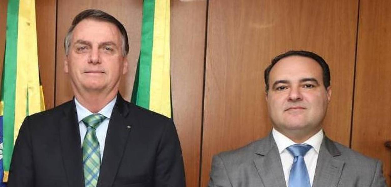 Bolsonaro e o major da PM Jorge Oliveira