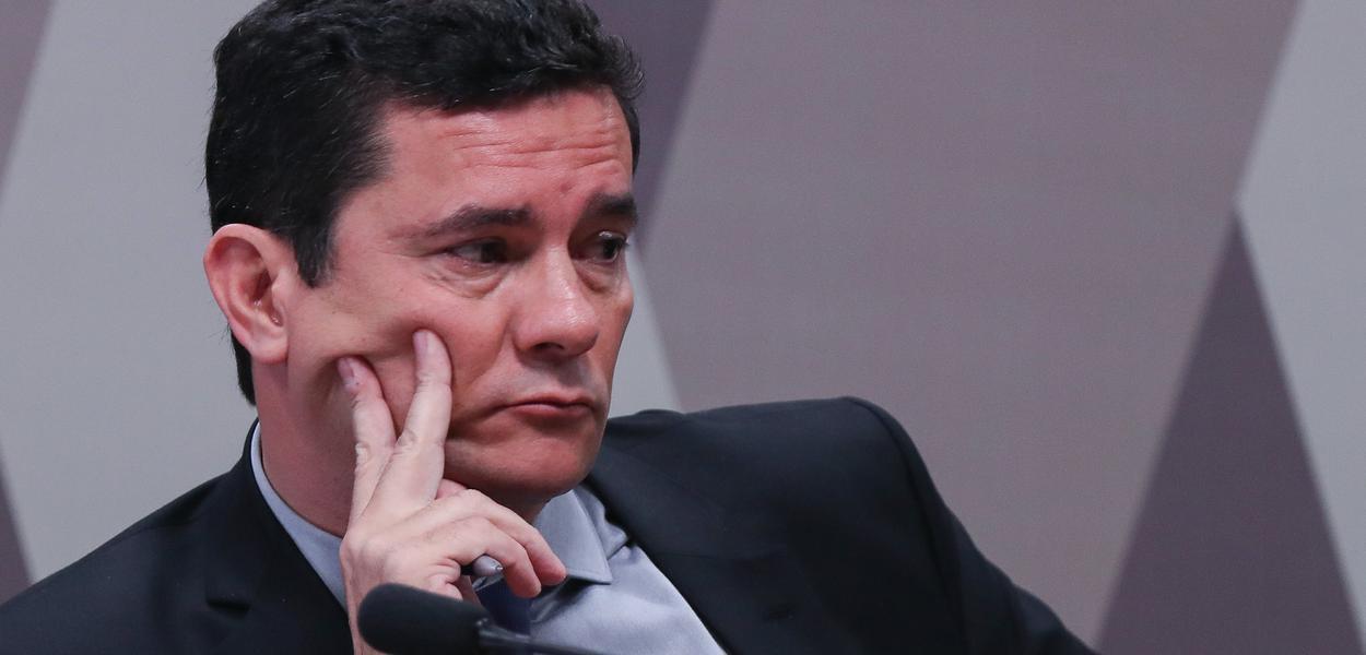 Brasília- DF. 19-06-2019- Ministro da Justiça Sergio Moro durante depoimento na CCJ dp senado.  Foto Lula Marques