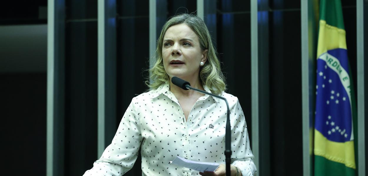 Brasília- DF. 11-04-2019-   Deputada Gleisi Hoffmann durante discurso. Foto Lula Marques