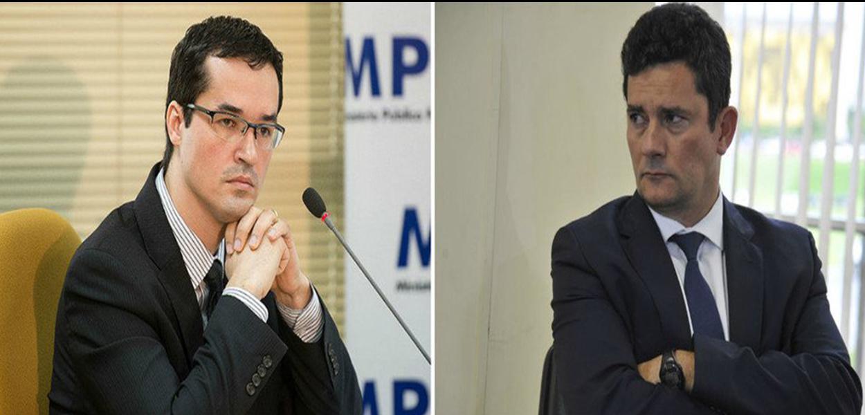 Ex-juiz Sérgio Moro e o procurador Deltan Dallagnol