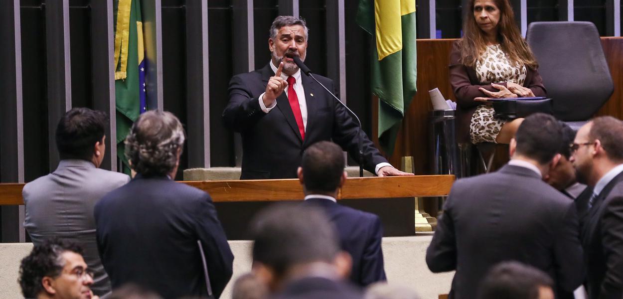Brasília- DF. 25-06-2019- Deputado Paulo Pimenta durante discurso na tribuna da câmara. Foto Lula Marques