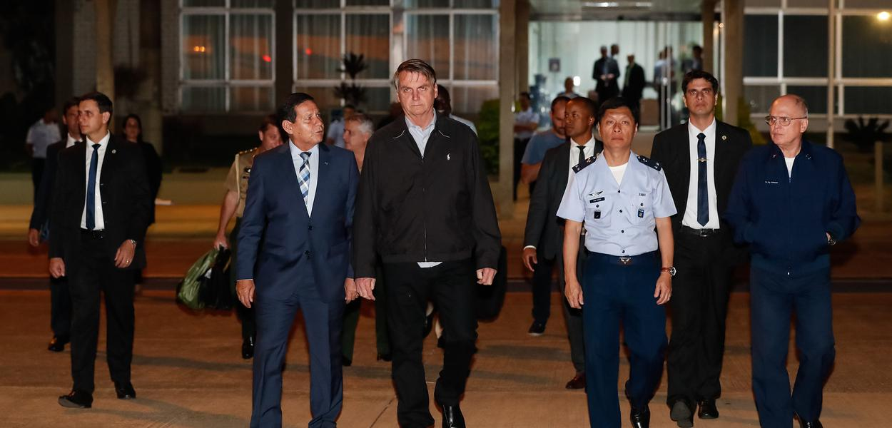 Partida de Brasília/DF de Jair Bolsonaro para Sevilha/Espanha