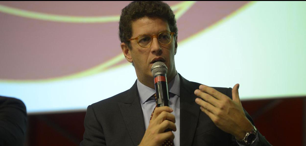 O ministro do Meio Ambiente, Ricardo Salles, fala no 91º Encontro Nacional da Indústria da Construção (Enic), na Barra da Tijuca, zona oeste do Rio de Janeiro.