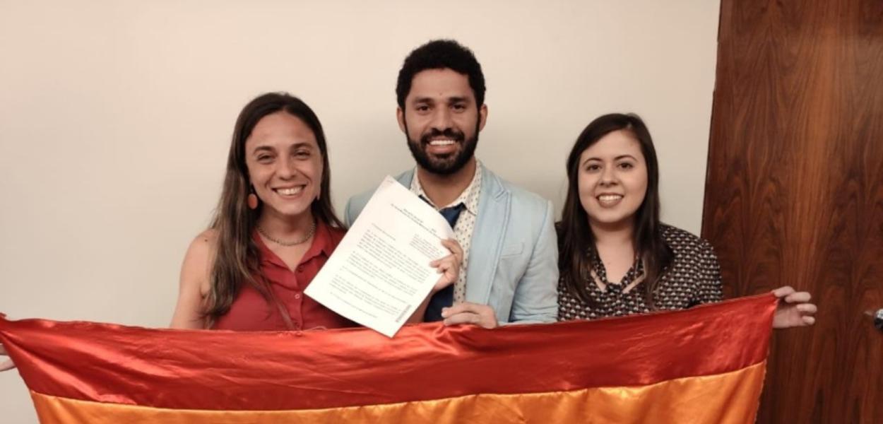 Fernanda Melchionna, David Miranda e Samia Bonfim