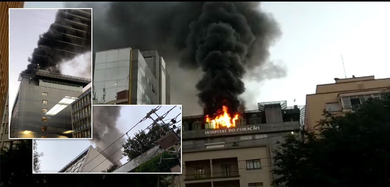 Incêndia no Hospital do Coração, em São Paulo