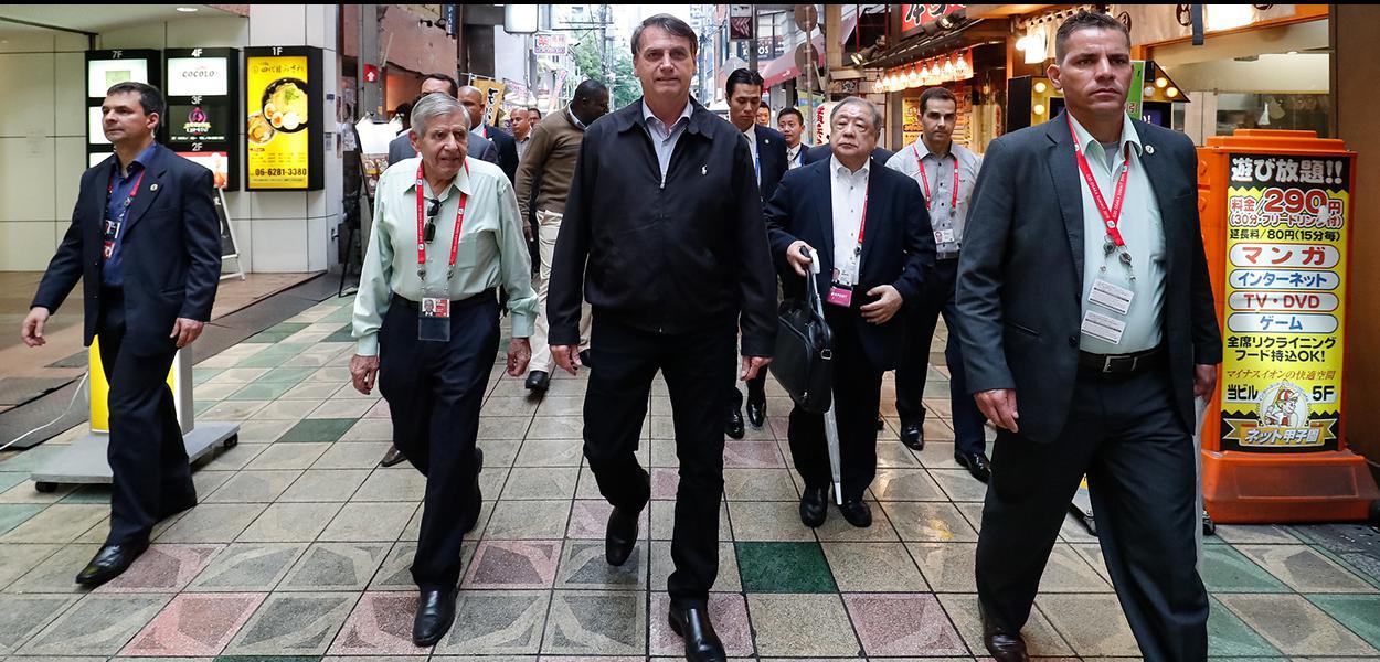 (Osaka - Japão, 27/06/2019) Presidente da República, Jair Bolsonaro, durante durante passeio pela cidade de Osaka.\rFoto: Alan Santos / PR