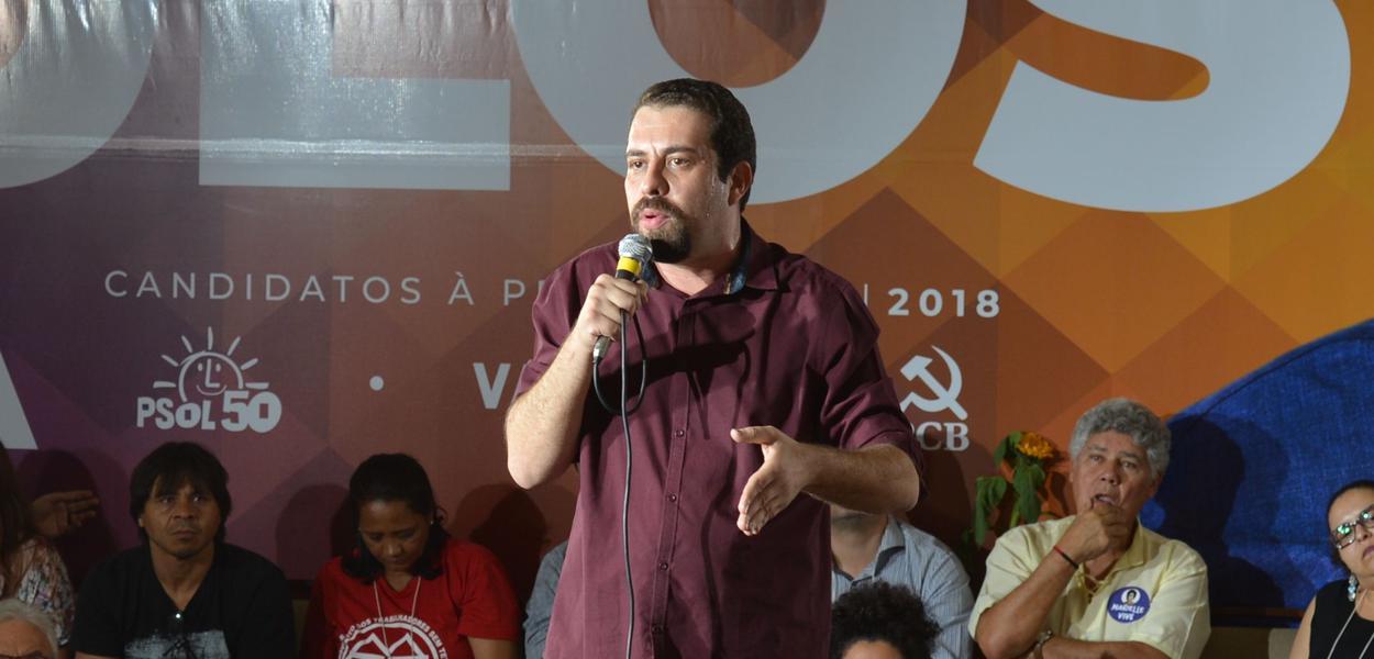 O  PSOL confirmou a candidatura de Guilherme Boulos à Presidência da República, na convenção nacional que reuniu filiados do partido.Foto Rovena Rosa/Agência Brasil