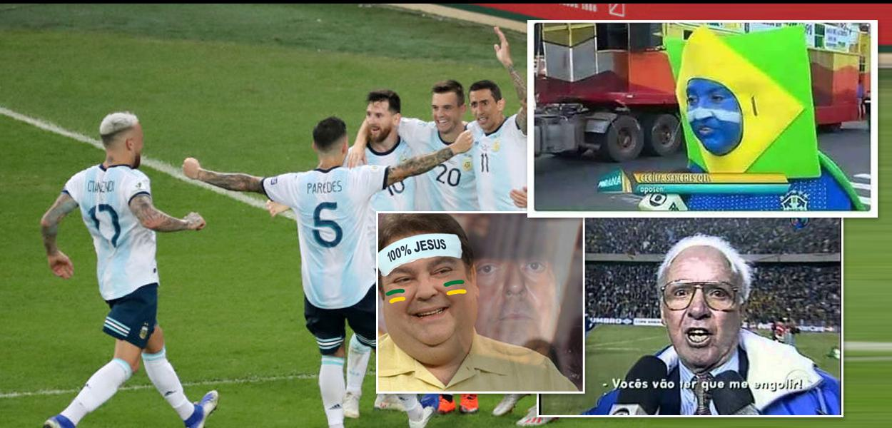 memes de Brasil x Argentina após argentinos eliminares Venezuela na Copa América