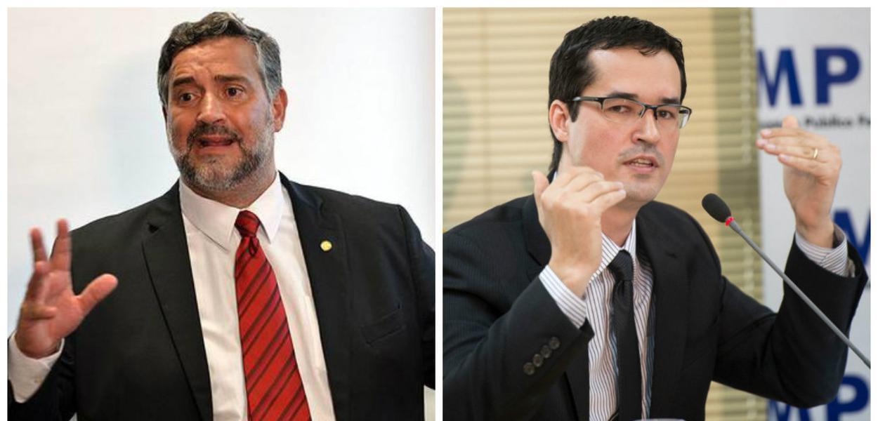Paulo Pimenta e Deltan Dallagnol