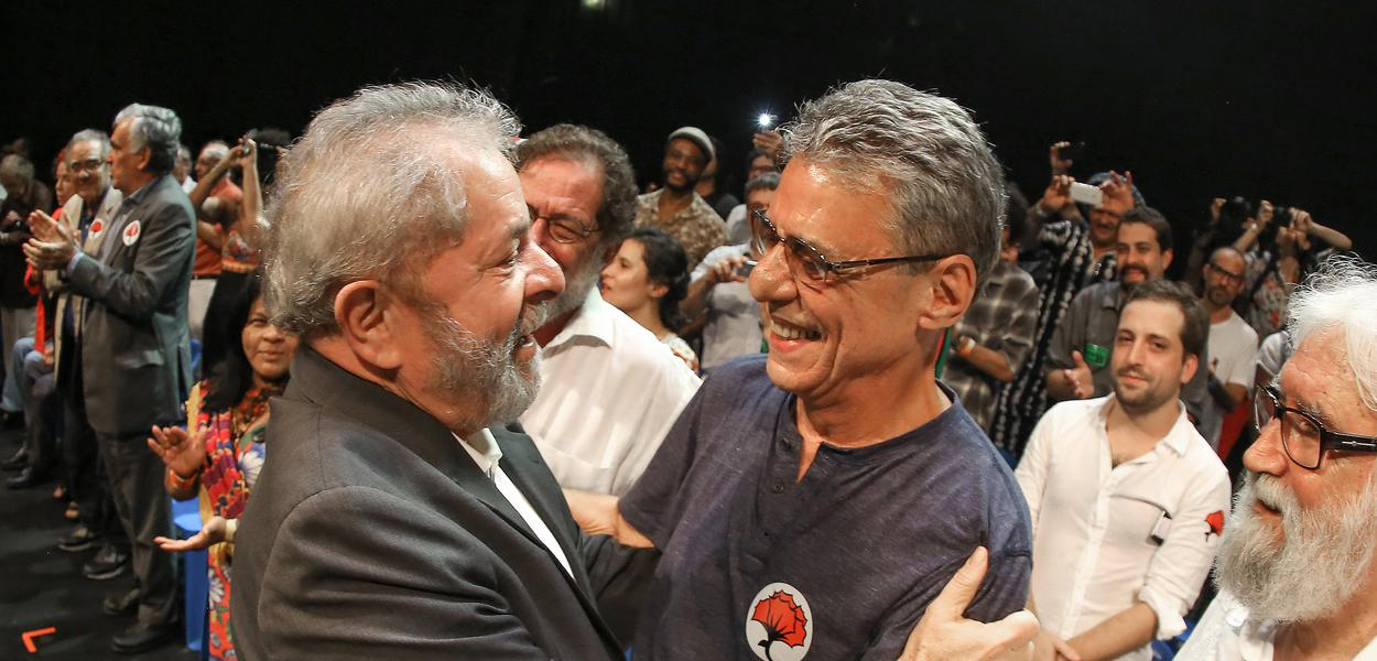 Ex-presidente Lula, durante ato pela democracia com intelectuais e artistas.Foto: Ricardo Stuckert/ Instituto Lula
