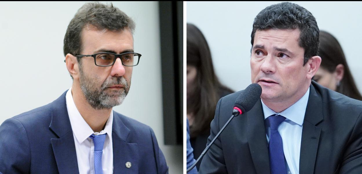 Marcelo Freixo e Sergio Moro
