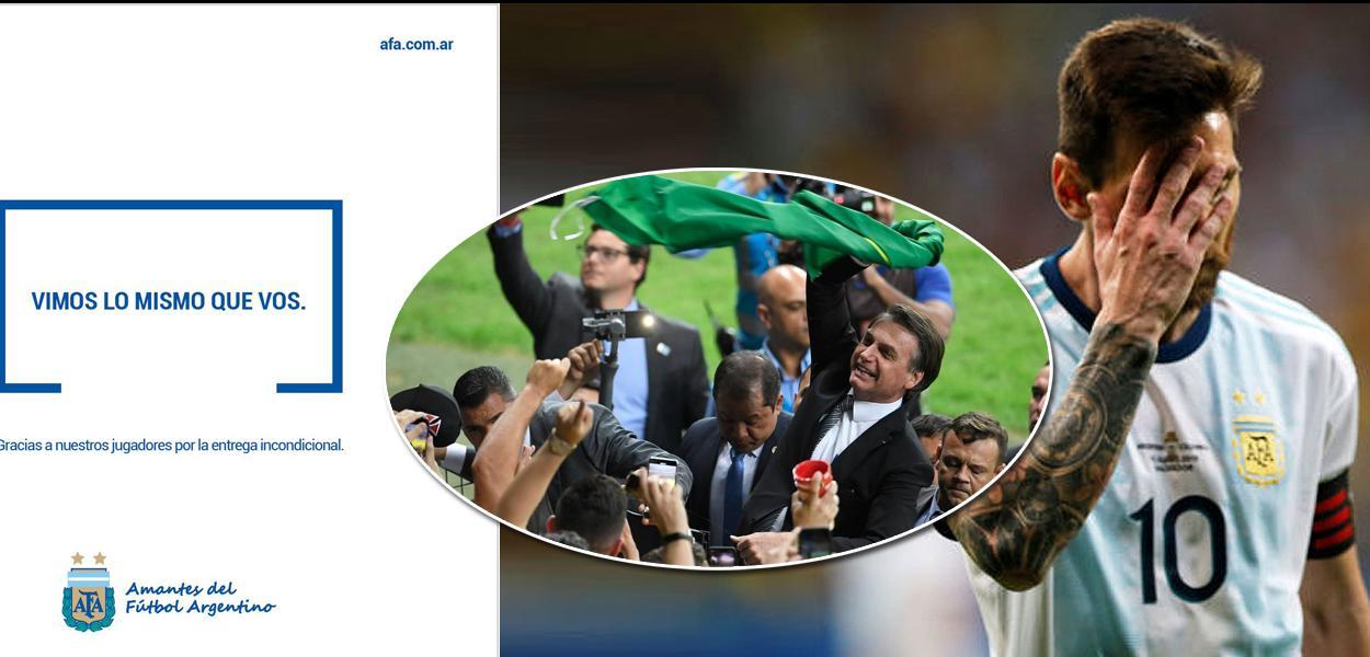 Argentina de Lionel Messi eliminada da Copa América para o Brasil de Jair Bolsonaro