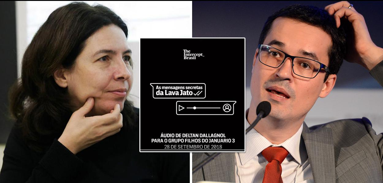 Mônica Bergamo e Deltan Dallagnol
