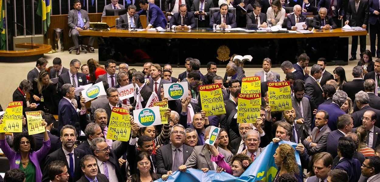 Sessão para votar a reforma da previdência.