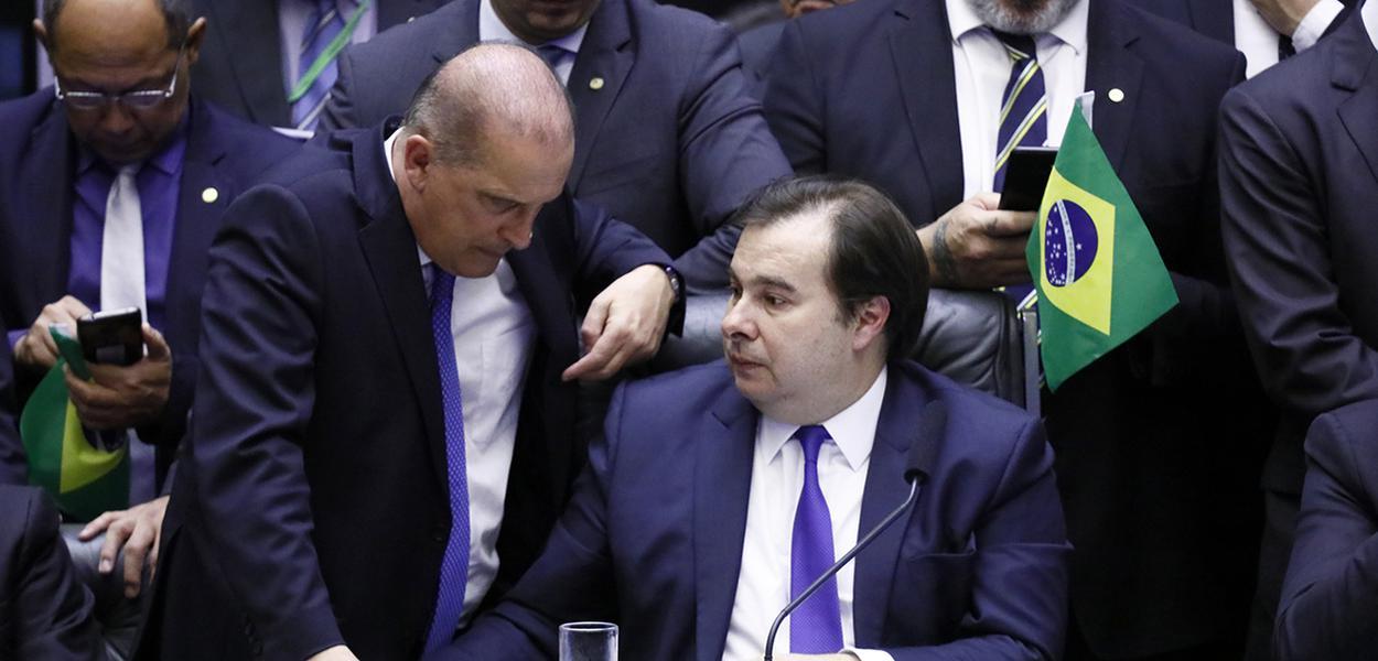 Ministro-Chefe da Casa Civil do Brasil, Onyx Lorenzoni e Presidente da Câmara, dep. Rodrigo Maia