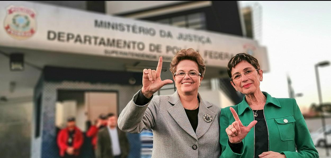 A ex-presidenta da República Dilma Rousseff e a escritora espanhola Pilar del Río, presidenta da Fundação José Saramago, visitaram o ex-presidente Lula na tarde desta quinta-feira (11) em Curitiba.
