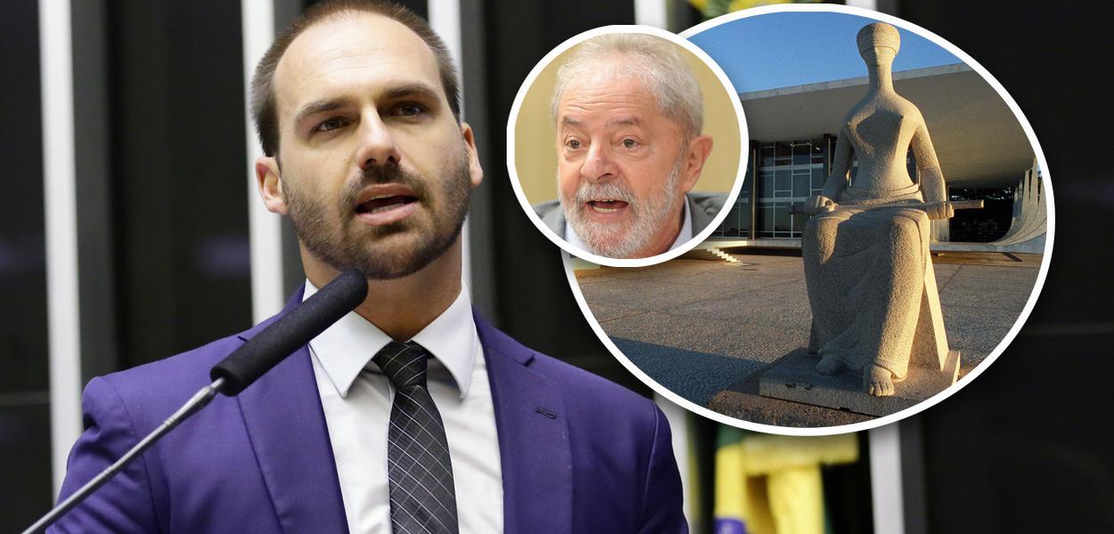 Eduardo Bolsonaro tenta intimidar STF e fala em convulsão social se Lula for solto