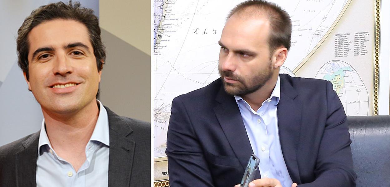 Bernardo Mello Franco e Eduardo Bolsonaro