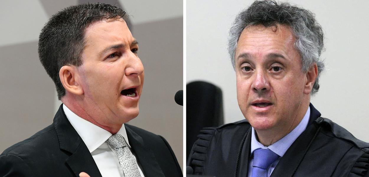 Glenn Greenwald e João Pedro Gebran Neto