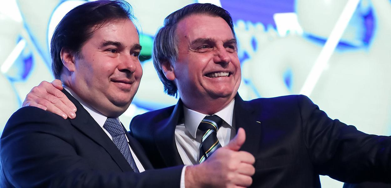 Presidente da Câmara dos Deputados, Rodrigo Maia, Presidente da República, Jair Bolsonaro.