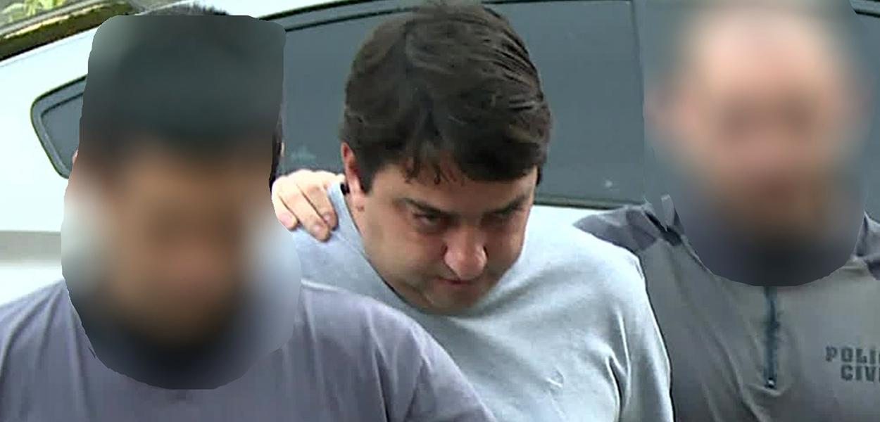 Bruno Pupe Cancella, um dos presos em operação contra a milícia, chega à Cidade da Polícia