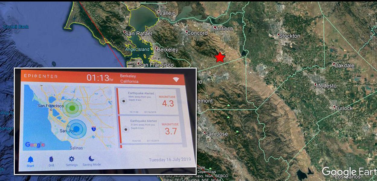 Terremoto atinge o estado da Califórnia, nos Estados Unidos.