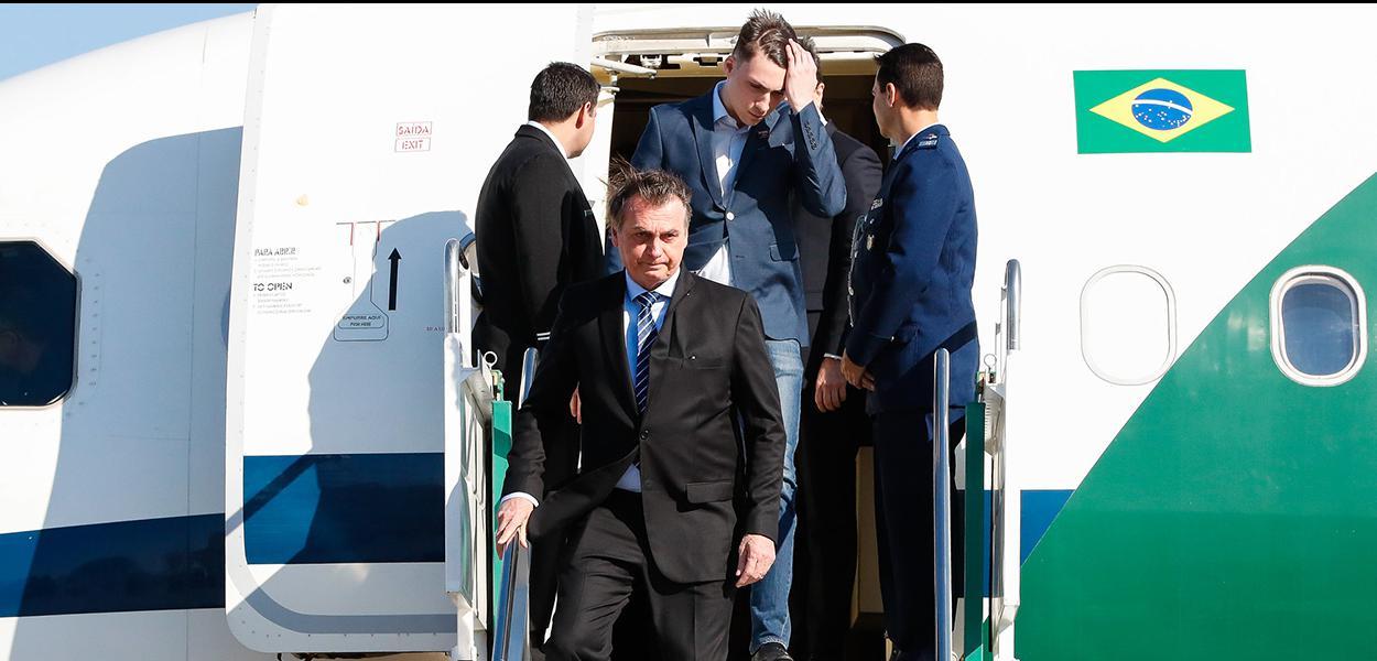 (Santa Fé - Argentina, 17/07/2019) Presidente da República Jair Bolsonaro desembarca no aeroporto de Sauce Viejo.\rFoto: Alan Santos/PR