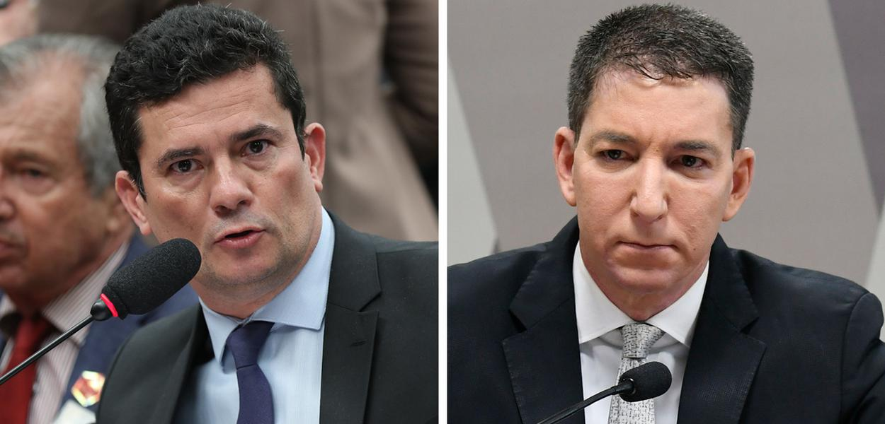 Sergio Moro e Glenn Greenwald