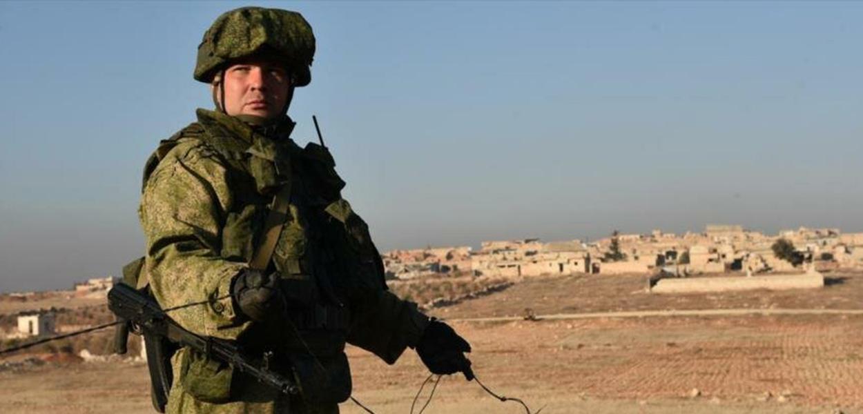 Soldado russo na Siria