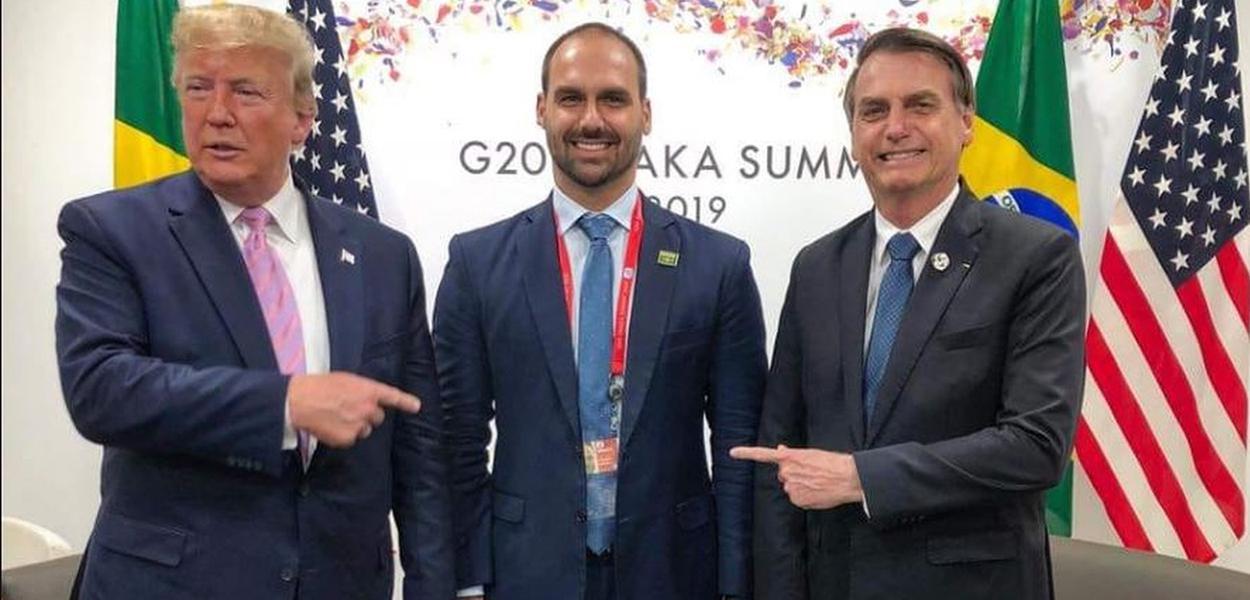 Trump, Eduardo e Jair Bolsonaro